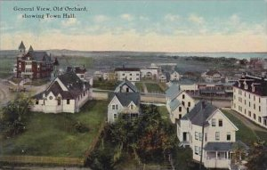 Maine Old Orchard General View Old Orchard Showing Town Hall