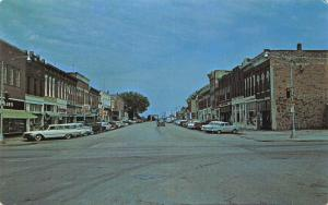 Burlington Kansas~Main Street Stores~Bridge at End~1950s Cars~Station Wagon~PC