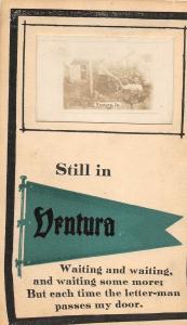 F35/ Ventura Iowa RPPC Postcard 1913 Pennant Man Woman Funny