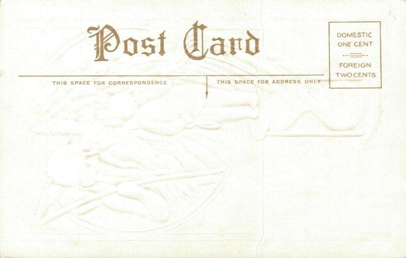 Happy New Year Embossed Angel Postcard 03.75