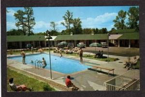 NC Riley Motel Pool US hwy 17 Wilmington North Carolina Postcard J D Hobbs