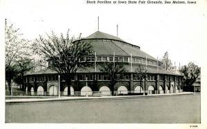 IA - Des Moines. Iowa State Fairgrounds Stock Pavilion