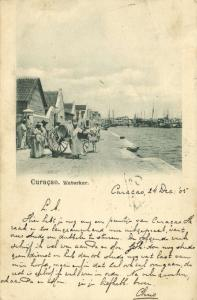 curacao, D.W.I., WILLEMSTAD, Water Cart (1905)