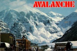 Colorado Telluride Avalanche Scene