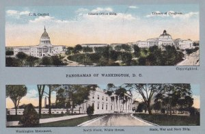 WASHINGTON, D.C., 1900-10s; 2 Panorama Views of Federal Buildings
