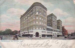 Virginia Norfolk Monticello Hotel 1905