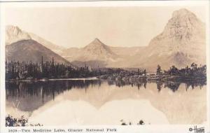 Montana Glacier National Park Two Medicine Lake Real Photo RPPC