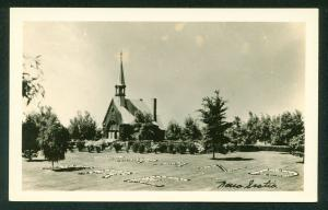 Church in Grand Pre Nova Scotia Canada Kings County Real Photo Postcard