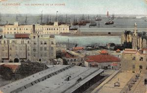 B95128 alexandria vue generale de la douane ship bateaux  egypt africa