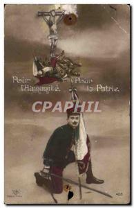 Militaria - Patriotic - For & # 39Humanite - For Fatherland - Old Postcard Mi...