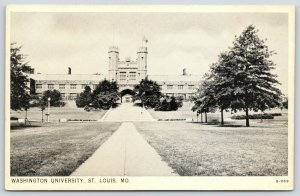 St Louis MO~Long Path, Straight to Terraced Steps @ Washington University~1920s
