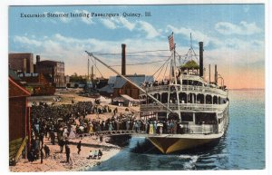 Quincy, Ill, Excursion Steamer landing Passengers