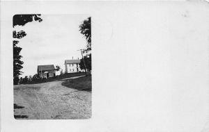 Skowhegan ME Dirt Street Cass Corner in 1910 RPPC Postcard