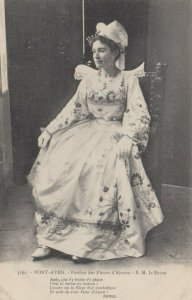 PONT-AVEN, France, 1900-1910s; Pardon des Fleurs d'Ajones - S.M. la Reine
