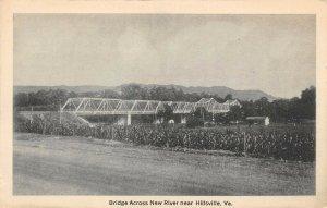 LP52 Hillsville  Virginia Postcard Bridge across New River