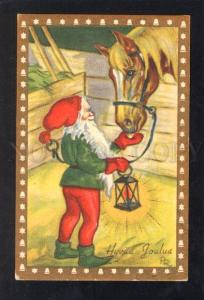 032764 SANTA. Red-Green GNOME & HORSE. By PR old PC