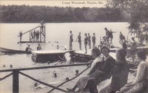 Maine Naples Swimming At Camp Wenonah Artvue