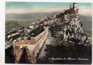 Repubblica S. Marino, Panorama, 1957 used Postcard