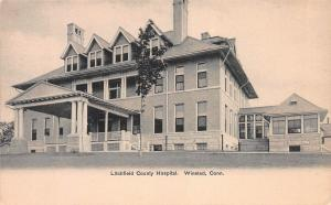 Litchfield County Hospital, Winsted, Connecticut, Early Postcard, unused