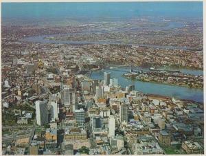 Brisbane Aerial Moreton Bay Queensland From The Air Australia Postcard