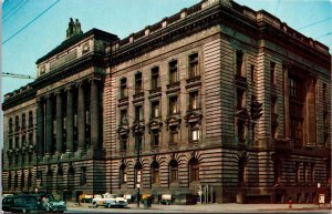 Youngstown OH Mahoning County Court House Postcard unused 1950s