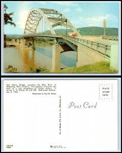 WEST VIRGINIA Postcard - Wheeling, Fort Henry Bridge P36
