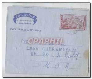 Cyprus Cyprus aerogram aerogramme used (postal stationary stationary Cyprus)