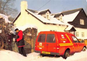 Postcard Royal Mail Post Van in Winter, Dartford, Kent L83