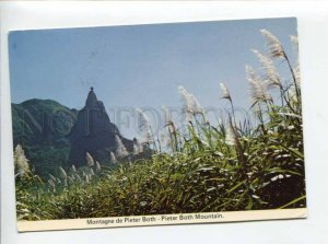 422053 Mauritius to FRANCE 1983 year Pieter Both Mountain air mail RPPC