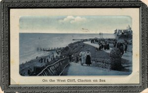 Clacton on Sea On The West Cliff Promenade Panorama Postcard