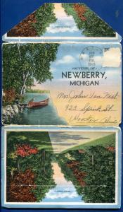Newberry Michigan 1940s Postcard Folder