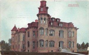 Phoenix Arizona 1911 Postcard High School