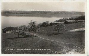 Switzerland Postcard - Camp De Vaumarcus, Vue Sur Le Lac Et Les Alpes Ref TZ7623
