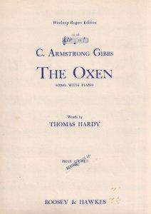 The Oxen C Armstrong Gibbs Thomas Hardy Poem Rare Olde Sheet Music