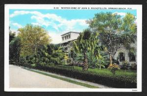 Rockefeller Winter Home Ormond Beach FL used c1920s