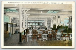 Saratoga Springs NY~New York State Reservation~Interior Of Drink Hall~1928 PC