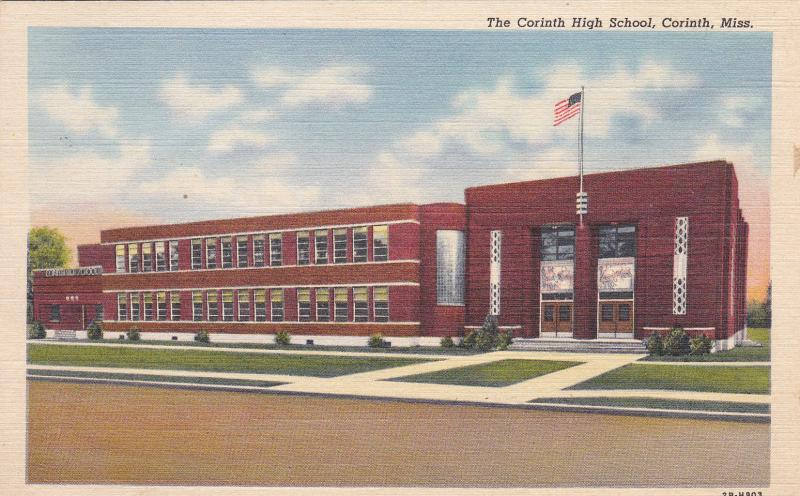 CORINTH , Mississippi , 1930s-40s; The Corinth High School