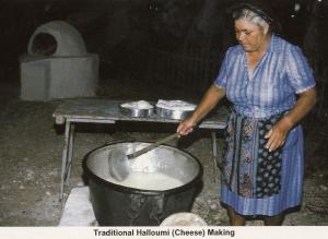 Cheese Making In Cyprus Halloumi Postcard