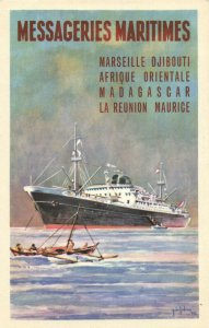 PC CPA SHIPS, MESSAGERIES MARITIMES, MARSEILLE-DJIBOUTI, (b18271)