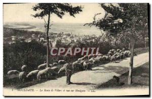 Old Postcard Houlgate Route de Villers and Houlgate View Shepherd and sheep