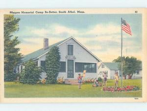 Unused Linen CAMP SCENE South Athol Massachusetts MA c3689