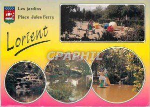 Modern Postcard Lorient Jules Ferry Square Gardens in Britain The Estuary Sco...