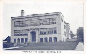 Ohio Postcard WOODSFIELD Monroe County 1951 HIGH SCHOOL BUILDING 6