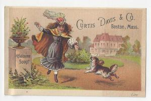 Victorian Trade Card Curtis Davis & Co Boston Welcome Soap