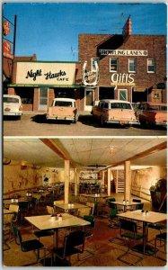 Camdenton, Missouri Postcard NIGHT HAWK CAFÉ & Rodeo Room Lake of the Ozarks