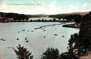 Massachsuetts Worcester Boating On Lake Quinsigamond 1908