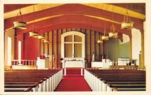 Willmar Minnesota~First Methodist Church~Interior~1968 Postcard
