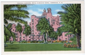 Honolulu, T. H., Tropical Gardens, Royal Hawaiian Hotel
