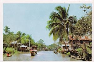 Thailand Passenger Boats On Up Country Canal