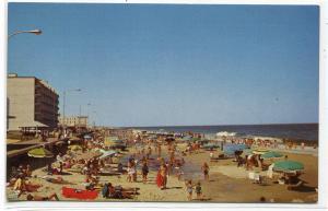 Beach Scene Rehoboth Beach Delaware postcard